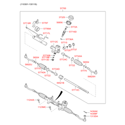 Вал рулевого механизма (Hyundai-KIA) 577164L000