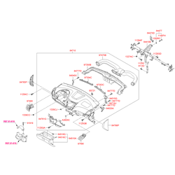 Воздуховод вентиляции салона (Hyundai-KIA) 974604L0009Y
