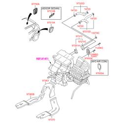 Воздуховод вентиляции салона (Hyundai-KIA) 973760U000