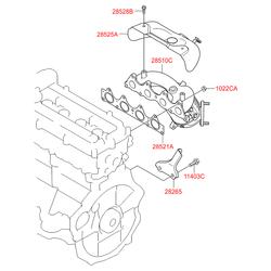 Выпускной коллектор двигателя (Hyundai-KIA) 285102BWB0