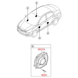 Динамик двери, 40вт (Hyundai-KIA) 963304L000
