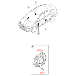 Динамик передний (Hyundai-KIA) 963301R000