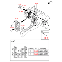 Заглушка панели кузова (Hyundai-KIA) 919504L532