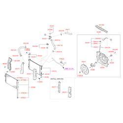 Защитный кожух радиатора (Hyundai-KIA) 253214L150