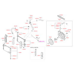 Защитный кожух радиатора (Hyundai-KIA) 253214L050