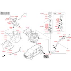 Защитный кожух топливного насоса (Hyundai-KIA) 311161R000