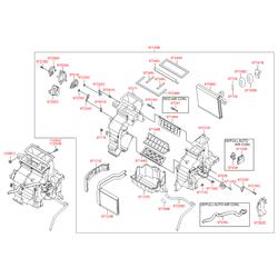 Испаритель отопителя салона (Hyundai-KIA) 971394L010