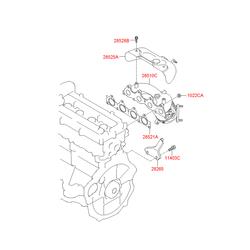 Каталитический нейтрализатор выхлопных газов (Hyundai-KIA) 285102BCB0
