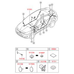 Клемма аккумулятора (Hyundai-KIA) 919803F060
