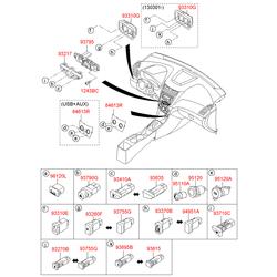 Кожух кнопки выключателя кондиционера (Hyundai-KIA) 937211R9004X
