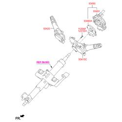 Кольцевая контактная группа рулевой колонки (Hyundai-KIA) 934902T010