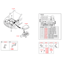 Комплект жгутов проводов моторного отсека в сборе (Hyundai-KIA) 912204L980