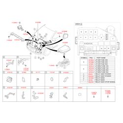 Комплект жгутов проводов моторного отсека в сборе (Hyundai-KIA) 912064L070