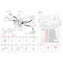 Комплект жгутов проводов моторного отсека в сборе (Hyundai-KIA) 912054L972