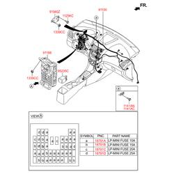 Комплект жгутов проводов моторного отсека в сборе (Hyundai-KIA) 911504L120