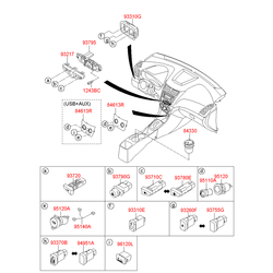 Контактный элемент проводки напольной консоли салона (Hyundai-KIA) 961201R0009Y