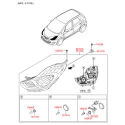 Лампочка фары (12в, 55вт) (Hyundai-KIA) 1864765009S