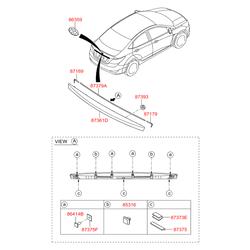 Накладка двери внутренняя (Hyundai-KIA) 873111R200