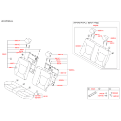 Накладка заднего сиденья (Hyundai-KIA) 891604L010N2L