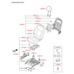 Накладка левая внутренняя спинки сиденья (Hyundai-KIA) 881804L010RY