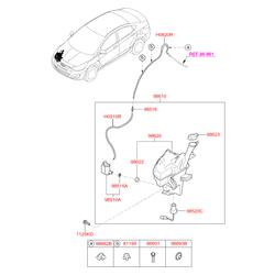 Насос стеклоомывателя с бачком (Hyundai-KIA) 986104L100