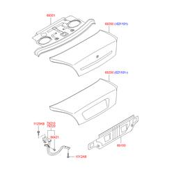 Панель крышки багажника (Hyundai-KIA) 6920039102
