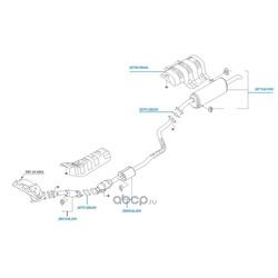 Передняя выхлопная труба в сборке (Hyundai-KIA) 286104L000