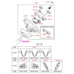 Пластиковая накладка рулевого колеса (Hyundai-KIA) 561511R300RDR