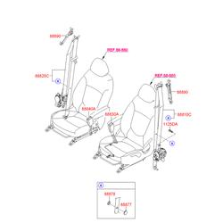Подушка заднего сиденья (Hyundai-KIA) 888804L200RY