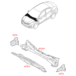 Поперечина моторного отсека (Hyundai-KIA) 667004L300