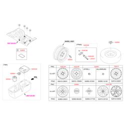 Прокладка крепления запасного колеса (Hyundai-KIA) 628524L000