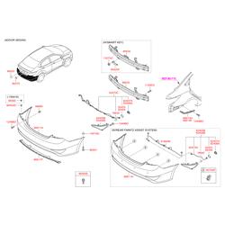 Светоотражающая накладка бампера (Hyundai-KIA) 924064L800