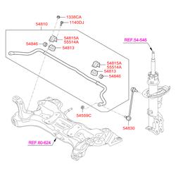 Стабилизатор поперечной устойчивости (Hyundai-KIA) 548104L001