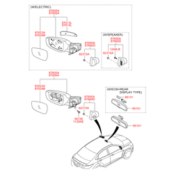 Угловая накладка кузова (Hyundai-KIA) 876501R000