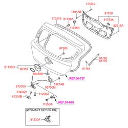 Уплотнитель багажной двери (Hyundai-KIA) 873210U200