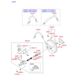 Уплотнитель главного тормозного цилиндра (Hyundai-KIA) 585923K500