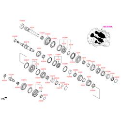 Упорное кольцо кпп (Hyundai-KIA) 4583523084