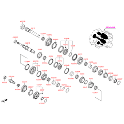 Упорное кольцо кпп (Hyundai-KIA) 4583523004
