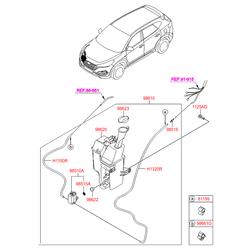 Упорное кольцо насоса стеклоомывателя (Hyundai-KIA) 985151W000