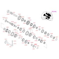 Упорное кольцо подшипника кпп (Hyundai-KIA) 4333123128