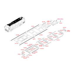 Фиксатор внутренней панели крыши (Hyundai-KIA) 8532643300