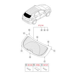 Фиксатор заднего стекла (Hyundai-KIA) 871142B000