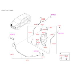 Фиксатор шланга стеклоомывателя (Hyundai-KIA) 986612T000