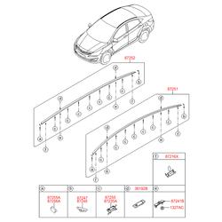 Фонарь дополнительного стоп-сигнала (Hyundai-KIA) 927501R200