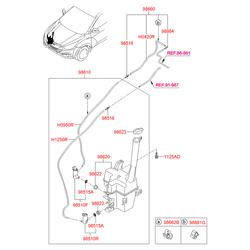 Хомут пластиковый (Hyundai-KIA) 9866224000