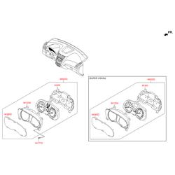 Щиток приборов в сборе (спидометры и тахометры) (Hyundai-KIA) 940234L240