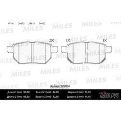 Колодки тормозные задние (Miles) E410136