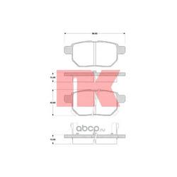 Комплект тормозных колодок, дисковый тормоз (Nk) 224582