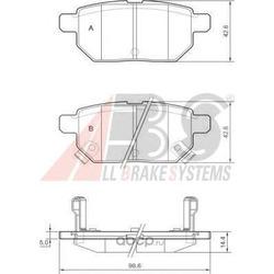 Комплект тормозных колодок, дисковый тормоз (Abs) 37580