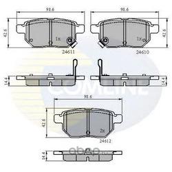 Комплект тормозных колодок, дисковый тормоз (Comline) CBP31579